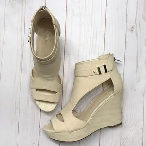 Bar III Susie Cream Wedge Shoe